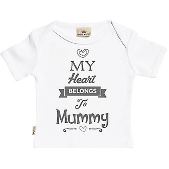Spoilt Rotten Heart Belongs To Mummy Short Sleeve Baby T-Shirt