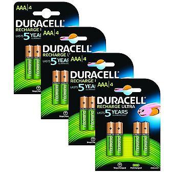 Duracell 850mAh Pre aufgeladen wiederaufladbare AAA-Batterien - Pack 16