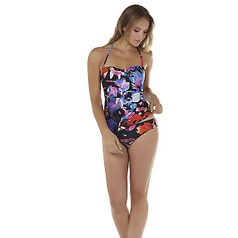 Seaspray 16-1352 Women's Rio Black, Red and Blue Floral Bikini Bottom