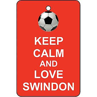 Keep Calm And Love Swindon Car Air Freshener