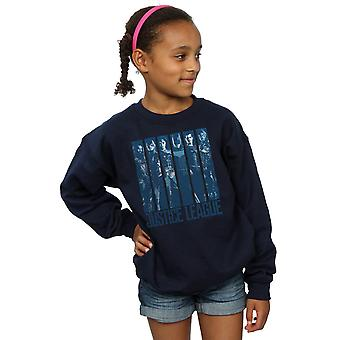 DC Comics Girls Justice League Movie Double Indigo Sweatshirt