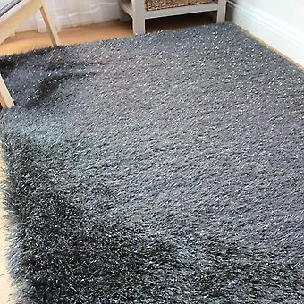 Dazzle Shaggy Rugs In Charcoal