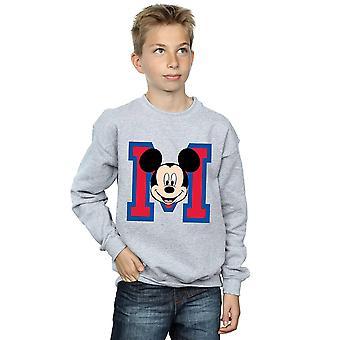 Disney Boys Mickey Mouse M Face Sweatshirt