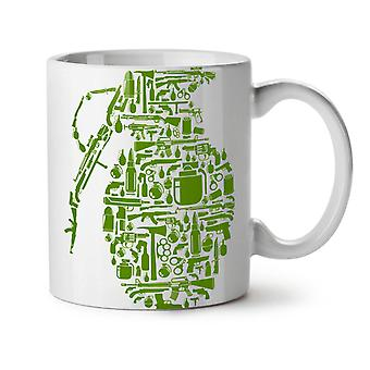 Gun Grenade War Gangster NEW White Tea Coffee Ceramic Mug 11 oz | Wellcoda