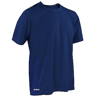 Spiro Mens Quick-Dry Sports Short Sleeve Performance T-Shirt