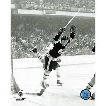 Bobby Orr spillet vinne overtid mål Game 4 1970 Stanley Cup Finals Foto ut