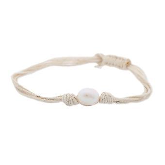 Textile de Misaki Mesdames bracelet blanc perle QCUBWAVE