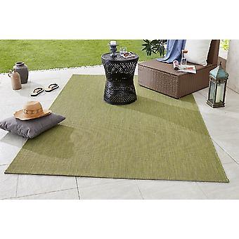 Diseño y tejido plano Outdoorteppich partido verde