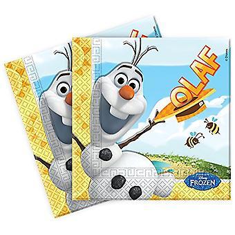 Serviettes napkins OLAF Frozenparty kids birthday 33x33cm 20 units