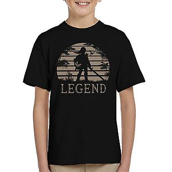 Legend Of Zelda Sonnenuntergang Triforce Kinder T-Shirt