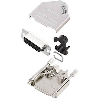 Receptáculo MHDTZK15-DB15S-K conectores D-SUB de MH sistema 180 º número de pernos: 15 soldadura cubo 1 PC