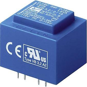 Blok AVB 2,3/2/9 PCB montaj trafosu 2 x 115 V 2 x 9 V AC 2,30 VA 127 mA