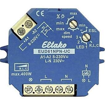 Eltako EUD61NPN-UC Surface-mount dimmer, Flush-mount dimmer Suitable for light bulbs: Light bulb, Energy saving bulb, Halogen lamp, Fluorescent lamp Blue