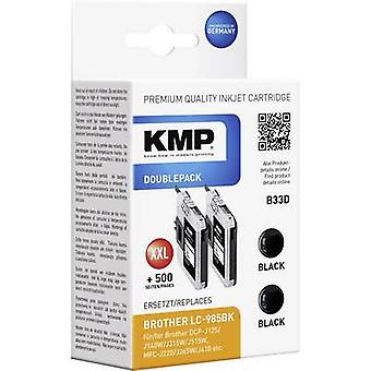 KMP atrament zastępuje Brother LC-985 zgodne Pack z 2 Black B33D 1523,0021