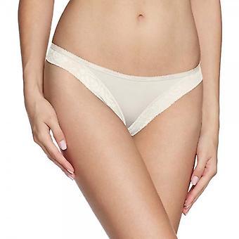 Calvin Klein Frauen moderne Signatur Thong, Elfenbein, große