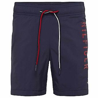Tommy Hilfiger Boys Medium Drawstring Swim Shorts, Navy Blazer, XX-Large