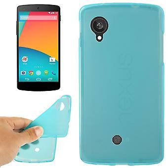 携帯電話 LG Google のネクサス 5 用保護ケース/E980 ブルー/ターコイズ
