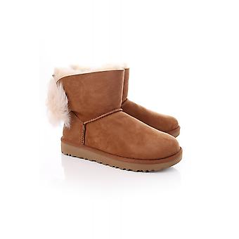 UGG Womens Fluff Bow Mini Boot