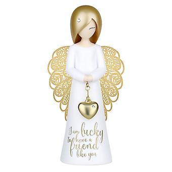 Você é um anjo eu sou sortudo Figurine
