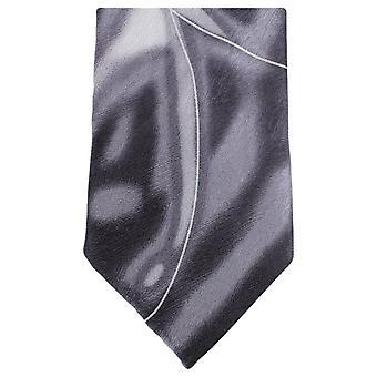 Knightsbridge dassen Water Swirl patroon stropdas - grijs/wit