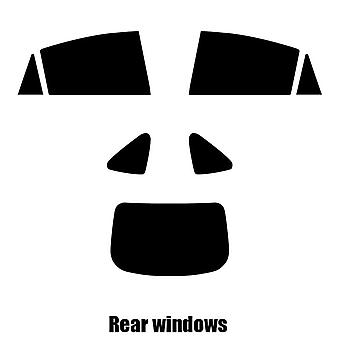 Pre cut window tint - Mazda 6 4-door Saloon - 2007 to 2013 - Rear windows