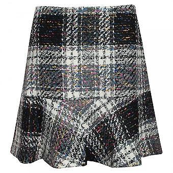 Tweed de corte trompeta OUI comprobado falda