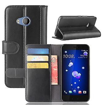 HTC U11 Life Wallet Case-BLACK