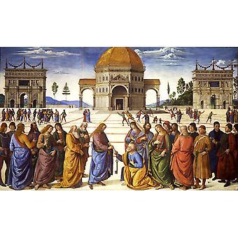 Christ giving thw Keys to St Peter, PERUGINO Pietro, 50x32cm
