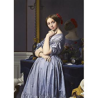 The comtesse,Jean-Auguste Dominique Ingres,60x40cm