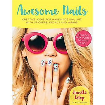Awesome naglar - kreativa idéer för handgjorda nailart med klistermärken - D
