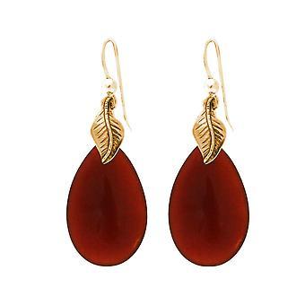Gemshine Damen Ohrringe orangene Karneol Edelsteinen. 925 Silber oder vergoldet