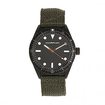 Morphic M69 serien Canvas-Band Watch - Svart/oliv