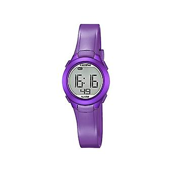 Unisex digital Calypso, with LCD display and purple plastic strap, K5677/2