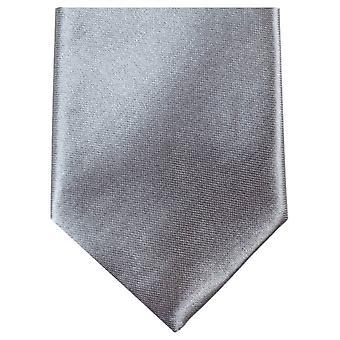 Knightsbridge cravates Slim Polyester Tie - Silver