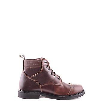Stone Island Ezbc024054 Men's Brown Leather Ankle Boots