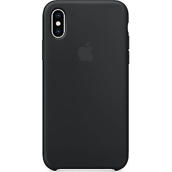 Original Packed MRW72ZM/A Apple Silicone Microfiber Cover Case for iPhone XS - Black
