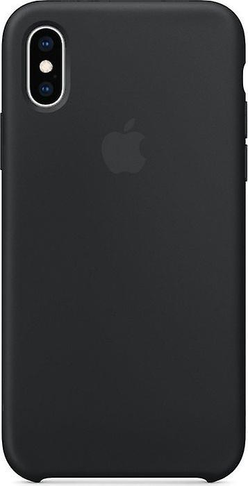 Original Packaging MRW72ZM/A Apple Silicone Microfiber Cover Case for iPhone XS - Black