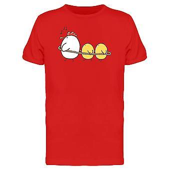 Henne mit spielen Hühner T-Shirt Herren-Bild von Shutterstock