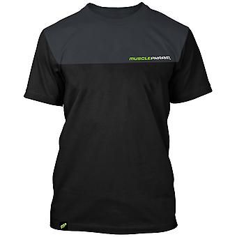 MusclePharm Mens MP Two Tone T-Shirt - Black/Gray - gym fitness
