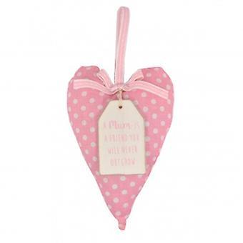 Fabric Heart A Mum Is A Friend