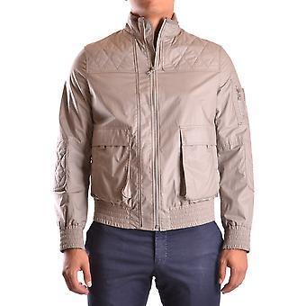 Neil Barrett Ezbc058071 Men's Beige Nylon Outerwear Jacket