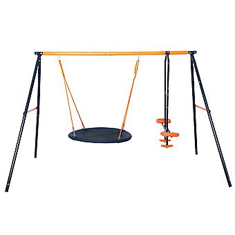 Hedstrom Nebula Nest Swing and Glider Set Blue/Orange Ages 3-10 Years