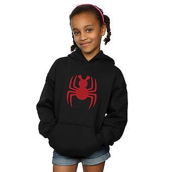 Marvel piger Spider-Man ind i Spider-verse Spider-ham logo hoodie