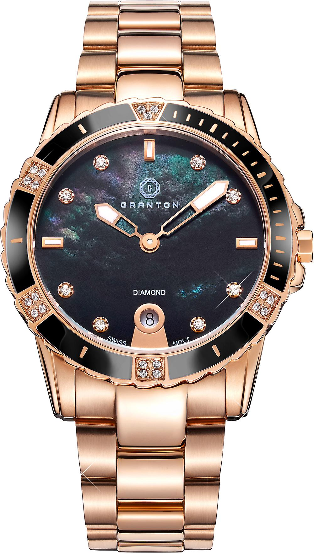 Granton - Influence - Women's Watch - Black Rose Gold