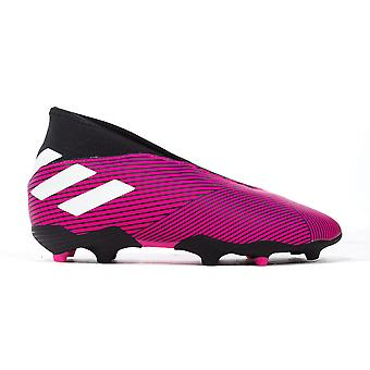 adidas Nemeziz 19.3 Laceless FG Firm Ground Kids Football Boot Pink/Black