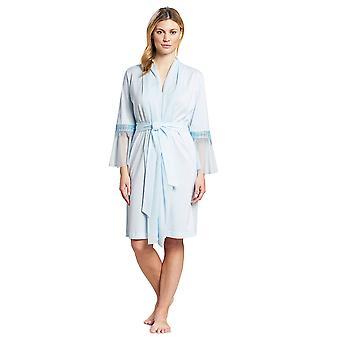 Féraud 3191126-11770 kvinner's couture krystall blå bomull dressing kjole loungewear kappe