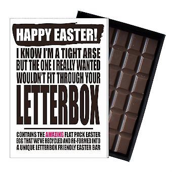 Funny Flat Easter Egg Chocolate Bar Greeting Card Gift Men Boyfriend Husband UK EIYF105