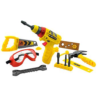 Lanard Tuff Multi-Tool Set With Power Drill Toy