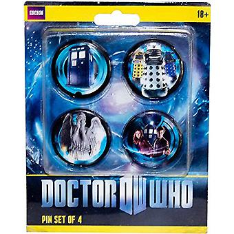 Doctor Who Eleventh Doctor Pinset of 4