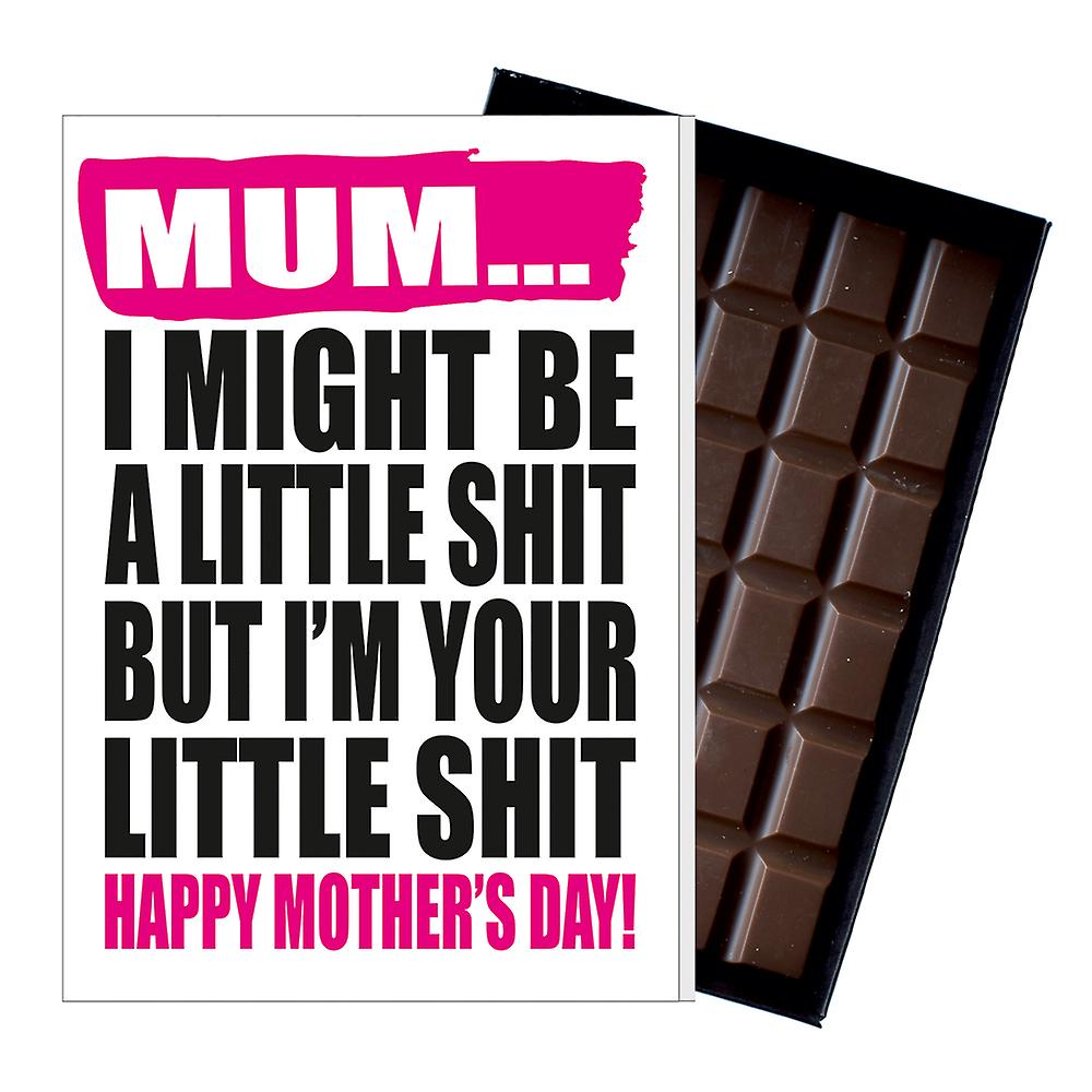 Funny Mother's Day Gift Boxed Chocolate Present Rude Greeting Card For Mom Mum Mumy MIYF122